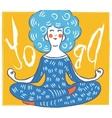 cute yoga lady Modern vector image