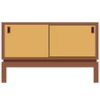 Retro furnite tv cabinet vector image