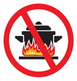 Making food prohibited vector image