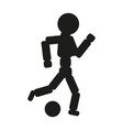 soccer player man black icon vector image