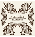 Vintage floral elements vector image