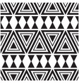 abstract black and white triangle pattern backgrou vector image
