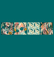 abstract collection seamless patterns with vector image