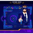 Abstract Future User Interface vector image