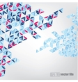 Abstract geometric mosaic background vector image vector image