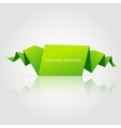 Abstract green origami speech bubble vector image