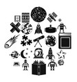 astronomy icons set simple style vector image