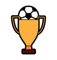 ball and trophy football soccer icon image vector image vector image