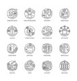 banking and finance icon set vector image vector image