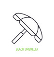 beach umbrella outline icon vector image