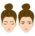 Beautiful women face vector image vector image
