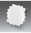 Blank books on transparent vector image