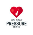 blood pressure month concept in flat style vector image vector image