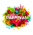 carnival splotch abstract grunge watercolor vector image