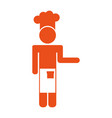 Chef avatar silhouette icon