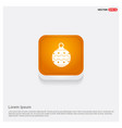 christmas ball icon orange abstract web button vector image