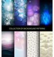 collection set of background patterns vector image vector image