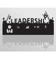 Construction site crane building leadership text vector image vector image