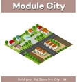 Country village of townhouses vector image vector image