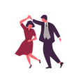 couple dancing together holding hands flat vector image vector image