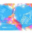 Creative nursing bottle Art vector image