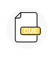 cue file format extension color line icon vector image vector image