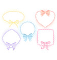 cute lace frames vector image
