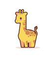 cute little giraffe cartoon comic character vector image