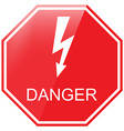 Danger warning sign vector image