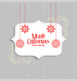 elegant merry christmas greeting with snowflakes vector image vector image