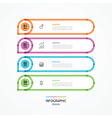 flat banner with four colorful strips vector image vector image
