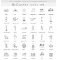 garden ultra modern outline line icons vector image