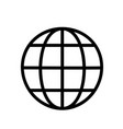 globe icon line vector image vector image