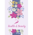 health and beauty logo background vector image