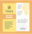 hunted house company brochure title page design vector image