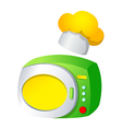 icon microwave vector image vector image