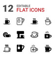 latte icons vector image vector image