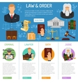 Law and Order infographics vector image vector image