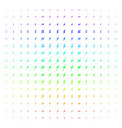 lightning shape halftone spectrum grid vector image vector image