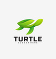 logo turtle gradient colorful style vector image