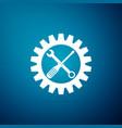 maintenance symbol screwdriver spanner cogwheel vector image vector image