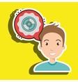 man communication cd bubble vector image