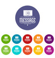 message icons set color vector image vector image