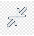 minimize concept linear icon isolated on vector image