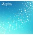 Modern Structure Molecule DNA Atom Molecule and vector image vector image