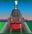 old locomotive railway engine vector image