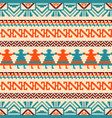 ornamental geometric background in ethnic style vector image vector image