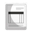 paper document office isolated icon vector image