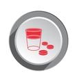 Pill drug icon Health medicine symbol Tablet vector image