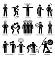 positive personalities character traits stick vector image vector image
